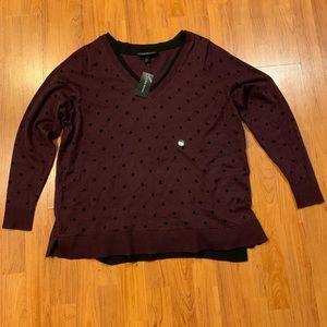 Lane Bryant Sweater size 18/20 Purple Polkadots